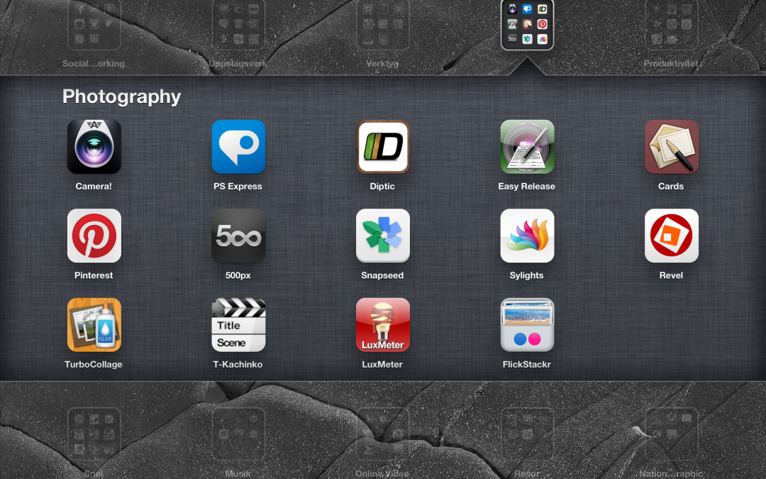 iPad photo-apps I Like and use